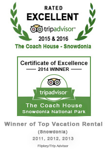Rated 'Excellent on Trip Advisor - Certificate of Excellence Winner 2014