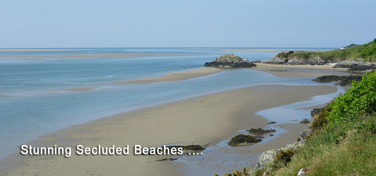 Secluded, stunning Snowdonia beaches within minutes drive of The Coach House