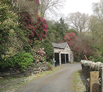 The driveway to The Coach House