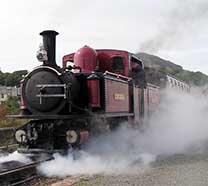 David Lloyd George Leaving Harbour Station Porthmadog