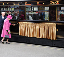 HM Queen Elizabeth II visits Welsh Highland Railway