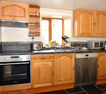 Well equipped kitchen (including dishwasher, integral hob/oven, larder fridge freezer & microwave) for those culinary nights in!