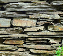 Traditional Welsh stone wall