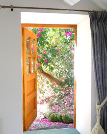 Exterior bedroom door to private terrace