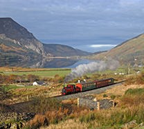 Prince on Welsh Highland Railway