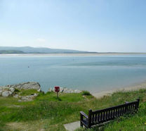 Take in the sea views at Borth y Gest Headland
