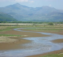 Snowdon from the cob in Porthmadog