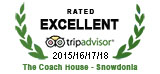 Rated Excellent 2015, 2016, 2017 & 2018 - Trip Advisor